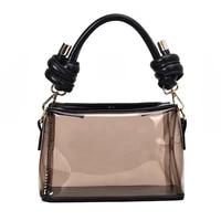 pvc jelly bag handbag 2019 women soft surface shoulder bag attached with hanging strap black pink white daybag girl fashion sac