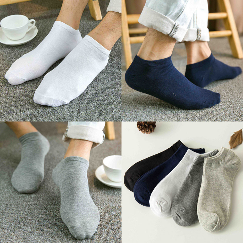 Comfortable Foot Socks Nonslip Short Socks Solid Color Invisible Hosiery Low Cut 1 Pairs Men's Boat Socks Cotton Women Socks