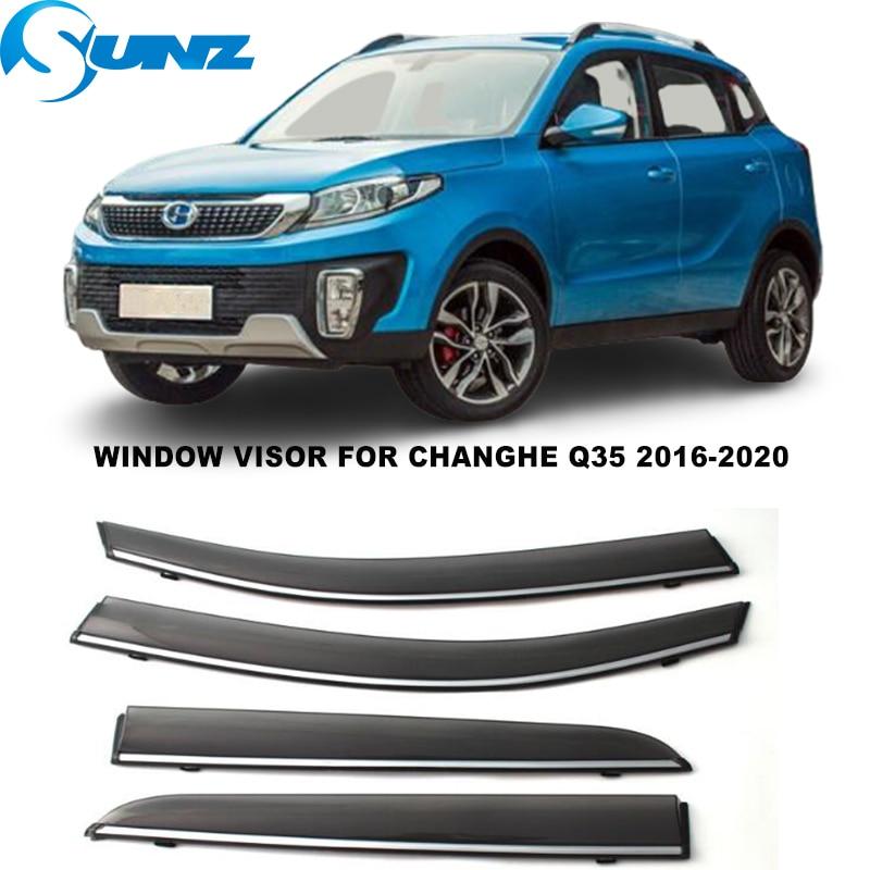 Side Window Visor For Changhe Q35 2016 2017 2018 2019 2020 Smoke Sun Rain Deflectors Window Rain Guards SUNZ