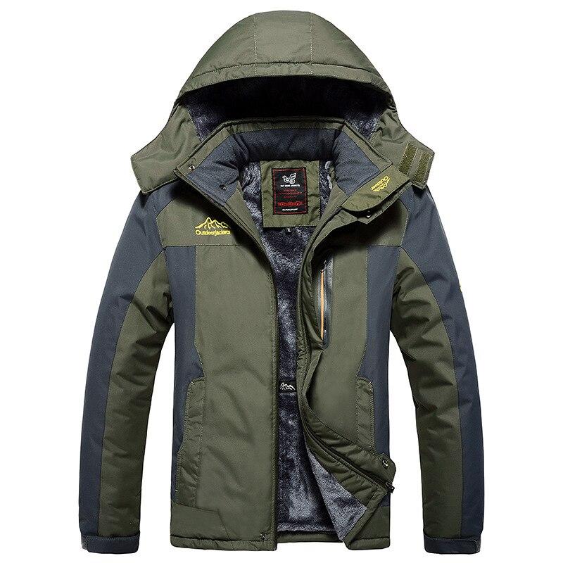 Зимняя мужская куртка 2021, искусственная кожа, бархатная ветрозащитная Осенняя толстовка, толстая парка, мужской уличный походный Анорак, те...