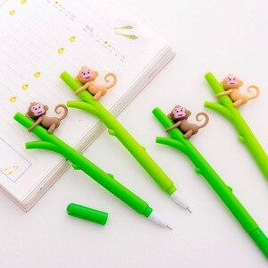 16 Pcs Super Cute Little Monkey Climbing Tree Cute Gel Pen Student Stationery Wholesale Kawaii Stationery Caneta Criativa