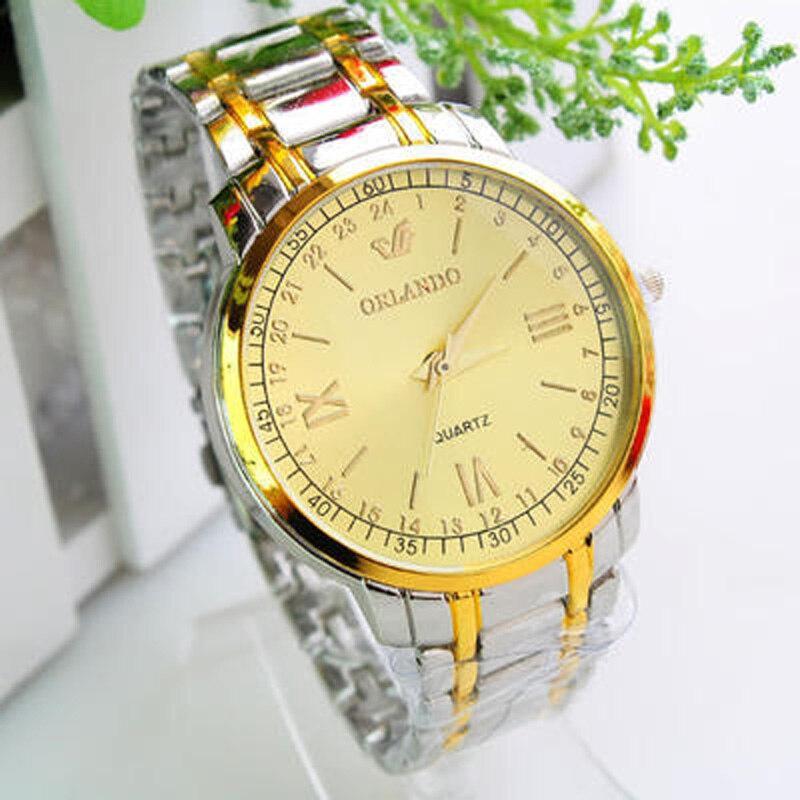 Nuevos relojes de cuarzo chinos, relojes de negocios a la moda para hombres, relojes de oro de lujo para hombres, relojes de pulsera de acero inoxidable para hombres, relojes de caballero