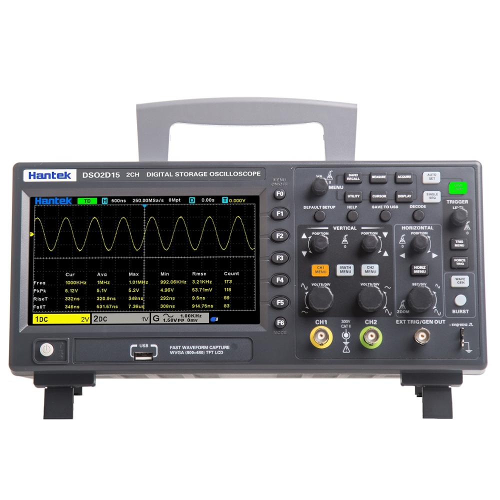 Hantek-مولد إشارة رقمي راسم الذبذبات DSO2C10 2C15 2D10 2D15 ، 2 قناة راسم الذبذبات 100 م 150 م 1GS/s