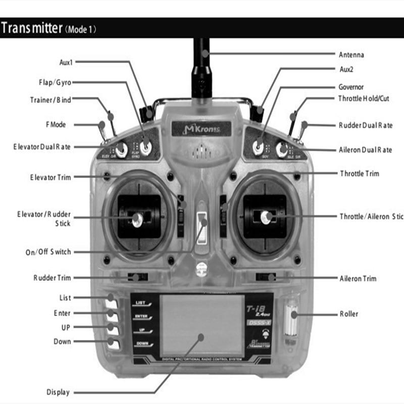 T-i8 2.4GHz 8 Channel T-i8 DMX Transmitter W/ PostBack Fuction 8 Channel  Receiver SPEKTRUM DX8 Radio Remote Controller enlarge