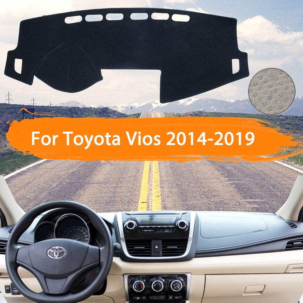 Для Toyota Vios 2014 2015 2016 2017 2018 2019 XP150 крышка приборной панели Dashmat Избегайте светильник коврик солнцезащитный коврик аксессуары для автомобиля