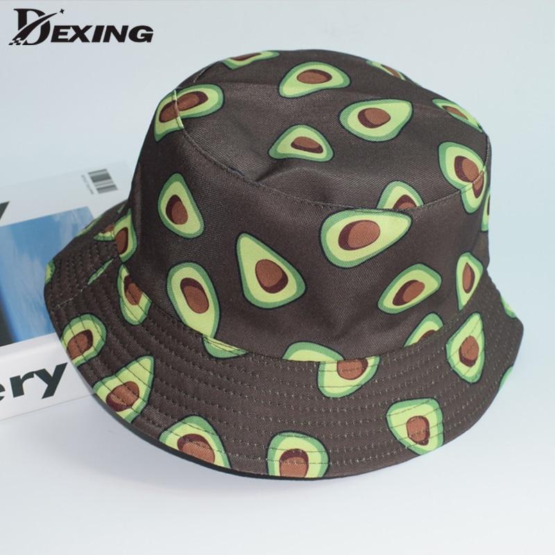 Summer Do not fade Fruit  Bucket Hat Women Men  Sad Boy print Cap Girls Double-Sided Bob Sun Femme Floral Panama  Fisherman Hat