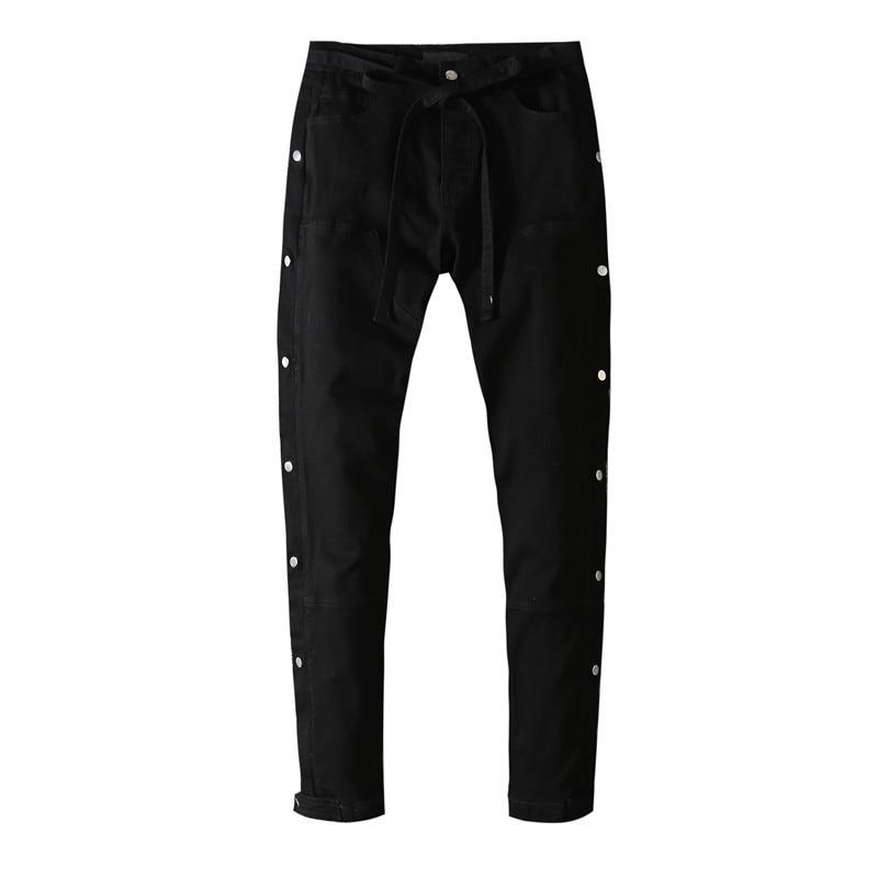 American Famous Brand AMR Black Breasted Man Jeans Men Trousers Men's Pants Men's Clothing Streetwear 2021 Jeans for Men