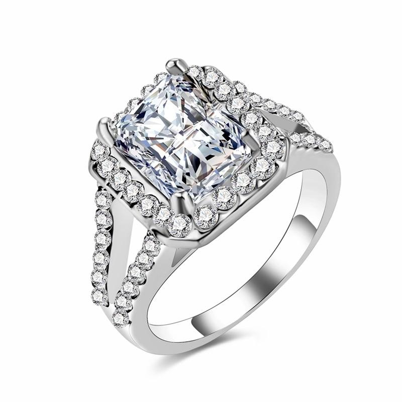 17IF роскошное обручальное кольцо из циркона, женское квадратное геометрическое кольцо с австрийским кристаллом AAA, романтические свадебные кольца для женщин, вечерние, подарок