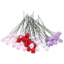 10 unids/set 1:12 casa de muñecas miniatura de arcilla tulipán ornamento accesorios de flores