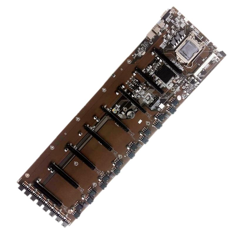 جديد 2021 لوح B75 BTC لوحة رئيسية شرائح VGA 8-GPU لوحة رئيسية بيتكوين لعمال المناجم 8PCI-E لوحة رئيسية للتعدين