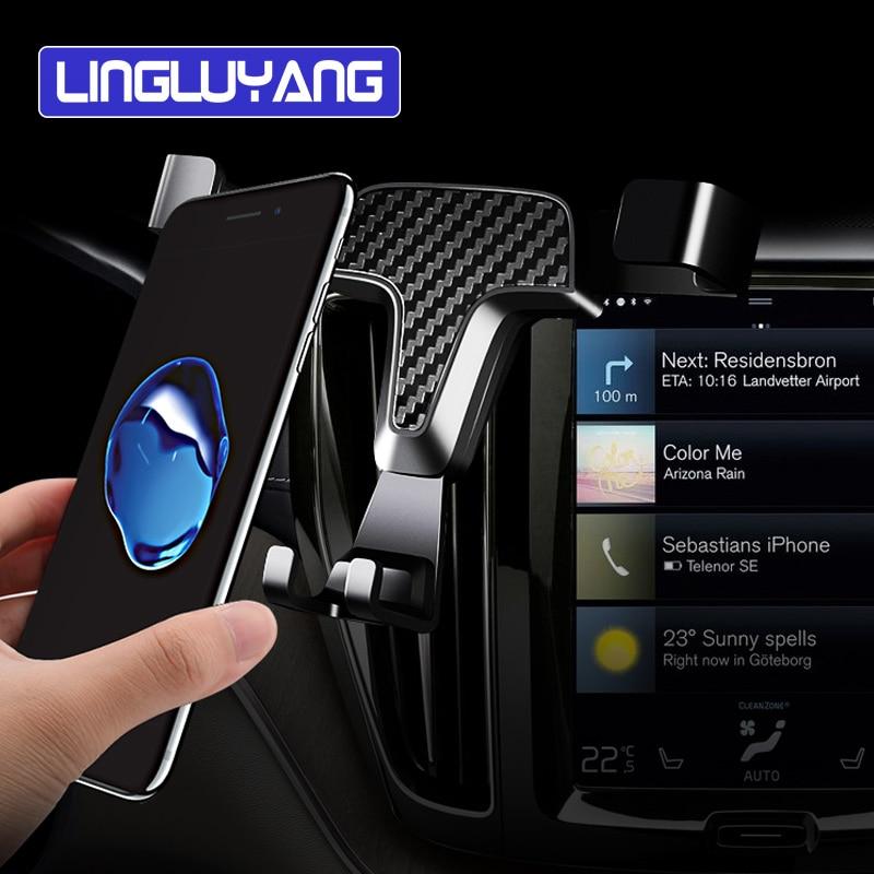 Автомобильные аксессуары для Volvo s60 v60 xc90 s90 v90 xc40 мобильный телефон держатель для воздуховода автомобильный навигатор Мобильный телефон дер...