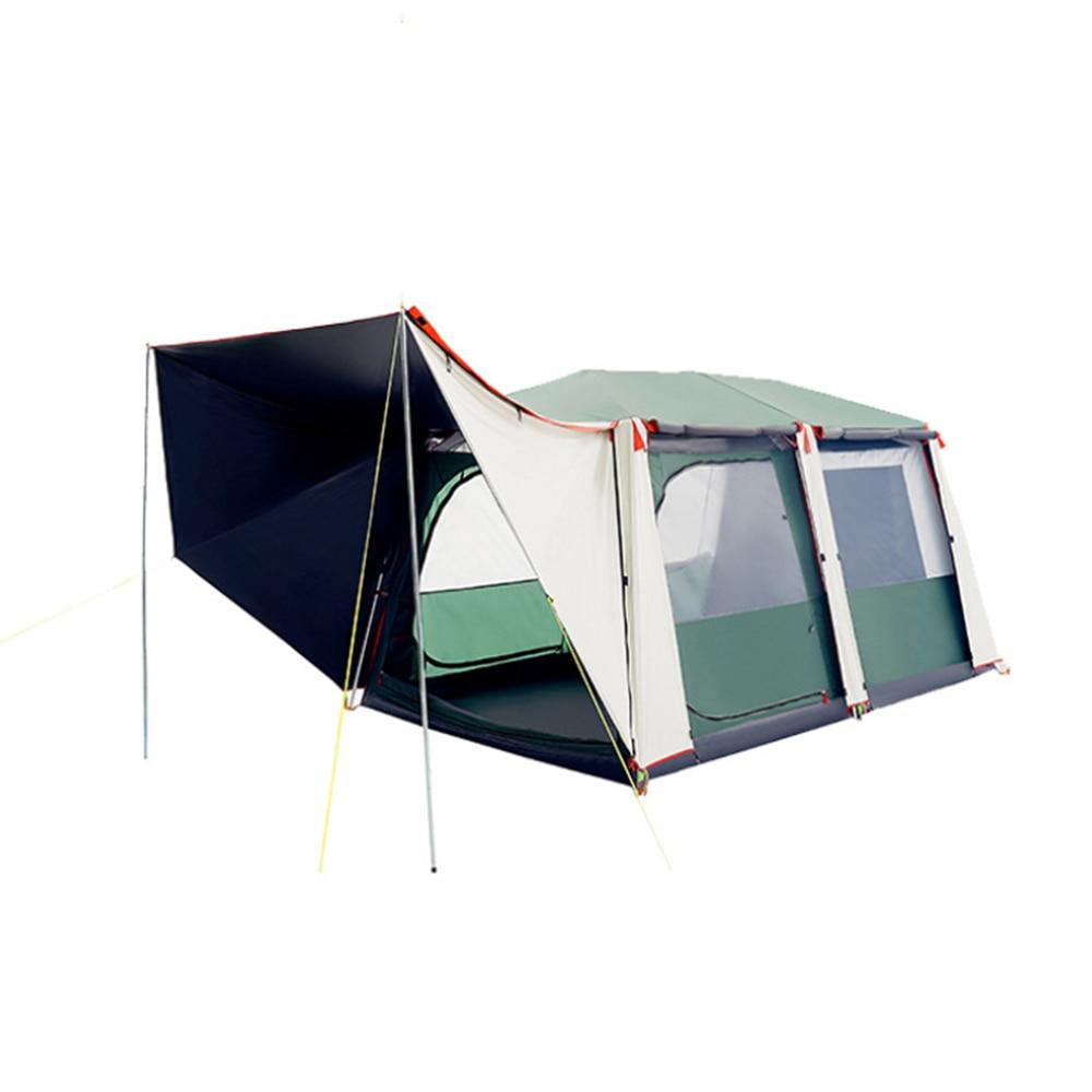 تصميم جديد التلقائي المنبثقة التخييم خيمة مقاوم للماء في الهواء الطلق طبقات مزدوجة عشرة مساحة كبيرة لشخص 6-8 مع حقيبة التخزين الحرة