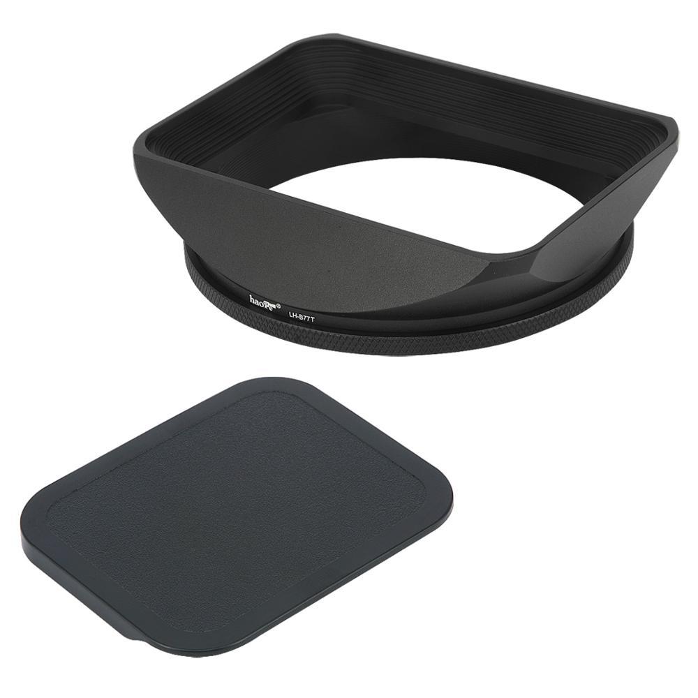 Capa quadrada da lente do metal de haoge 77mm com tampa para 77mm canon nikon leica zeiss nikkor fuji lente e 77mm filtro lente da linha