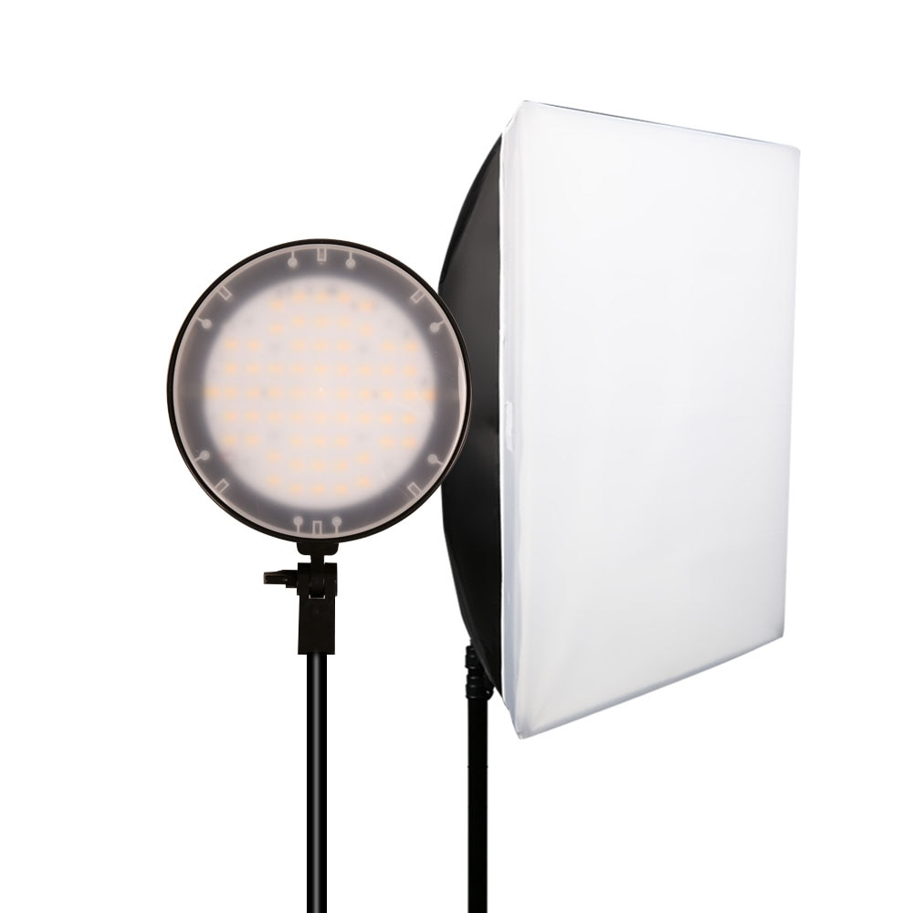 GSKAIWEN Photography Bi-color 3200K-5500K Dimmable LED Video Lamp Studio Light Set with Softbox Tripod Photographic fill light enlarge