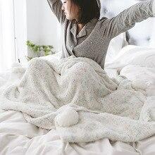 Breivik Soft Blanket Casual Blanket Autumn And Winter Sofa Blanket Hanging Ball Blanket