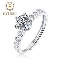 gems ballet moissanite diamond antique style rings 0 5ct 5mm vvs1 925 sterling silver womens moissanite ring fine jewelry