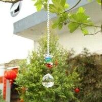 sun catcher glass ball pendant rainbow maker hanging ornament garden tree decor