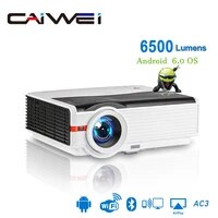 Caiwei A9 A9AB Intelligent LED Soutien 1080p Projecteur Home Cinema Full HD Video Mobile Beamer Android WiFi Bluetooth VGA AV USB