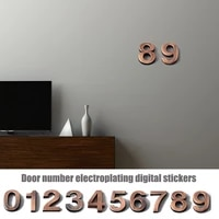 1pc plastic door number sticker self adhesive house number signs for apartment hotel office room address number door plate