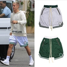 Men Shorts High Street Hip-Hop Tide Brand Embroidered Streetwear Loose Five-Point Basketball Pants C