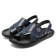 Men Sandals Summer Classic Men Shoes Slippers Soft Sandal Male Comfortable Walking Footwear Large Si
