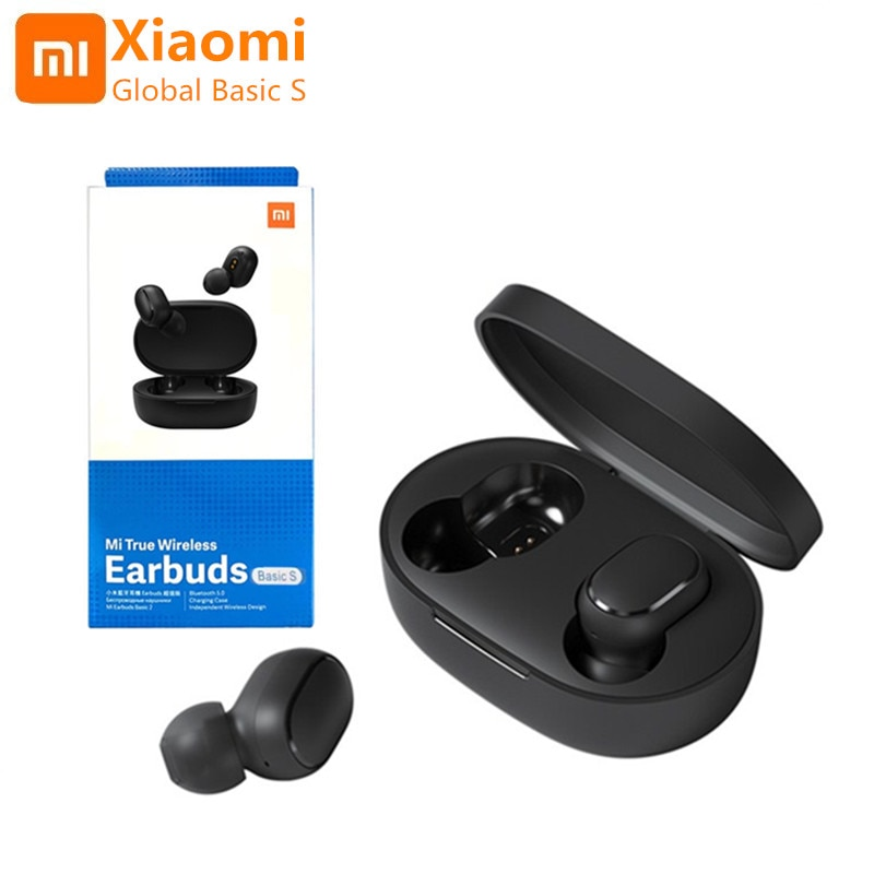 Original Xiaomi AirDots Global Version Wireless Bluetooth Headset Mi Basic S Stereo Gaming Headset PK Redmi AirDots TWS Earbuds