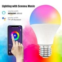 Ampoule intelligente WiFi  15W  variable RGB   CCT  E27 B22  commande vocale  fonctionne avec Alexa Google Home Magic