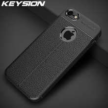 KEYSION Shockproof Case for IPhone SE 2020 New Leather Silicone Phone Cover for IPhone 11 Pro Max XR XS Max 8 7 6 6s Plus 5 SE