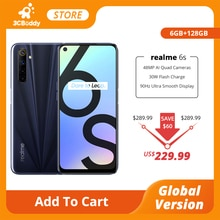 realme 6s NFC smartphone Global Version 6GB 128GB Mobile Phone 90Hz 6.5'' Display 48MP AI Quad Camer