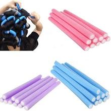 Hot sale new Wholesale 10pcs Lot Curler Makers Soft Foam Bendy Twist Curls DIY Styling Hair Rollers