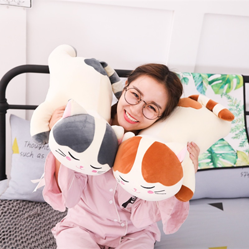 60CM Creative Christmas Plush Cat Toys For Children Soft Stuffed Down Cotton Pillow Cartoon Animal Kids Baby Doll Birthday Gift 30cm baby playing creative kawaii plush cat toys soft stuffed down cotton pillow cartoon animal kids baby doll birthday gift