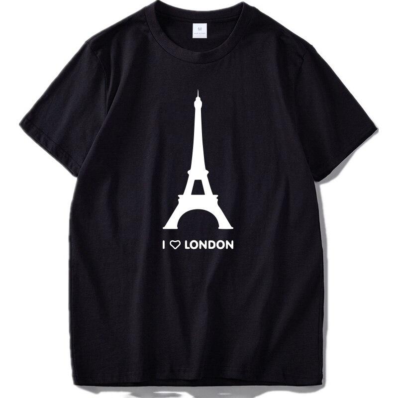 Camiseta con estampado de I Love London para hombre, camisa Hipster de...