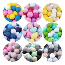 BOBO.BOX 20Pcs Silicone Beads 9MM Round Beads DIY Baby Pacifier Chain Pendant BPA Free Eco-friendly