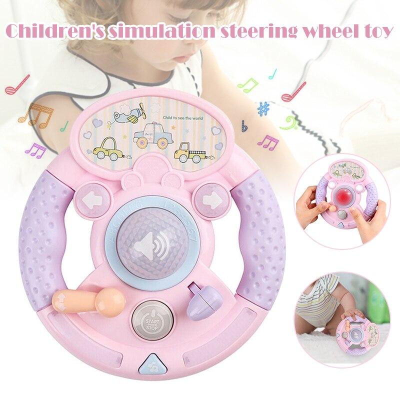 Juguetes musicales para bebés, volante simulado, canción intermitente, YH-17 educativo temprano