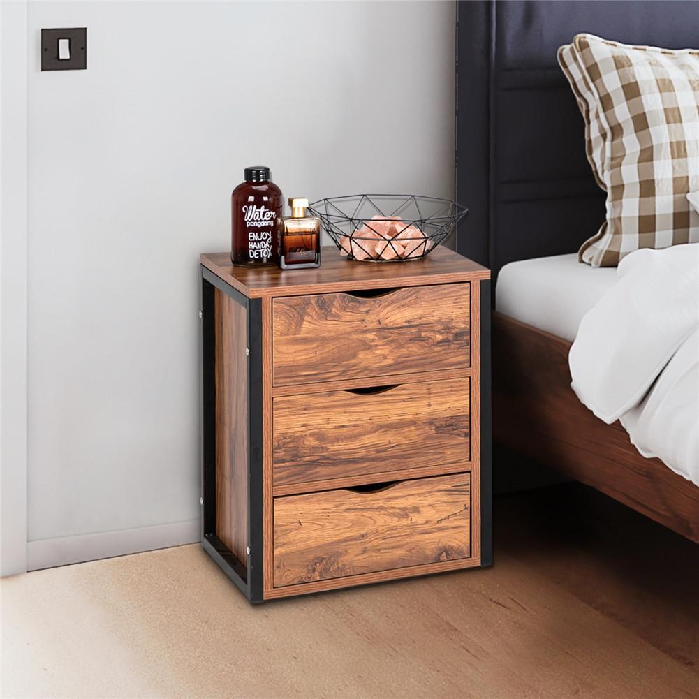 إطار فولاذي ثلاثي الرسم طاولة السرير أثاث منزلي لغرفة المعيشة