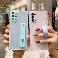 candy wrist strap clear phone case for huawei p40 lite p30 mate 30 40 pro y5p y6p y7p y8p y9a y6 y9 nova 5 6 7 8 se matte cover