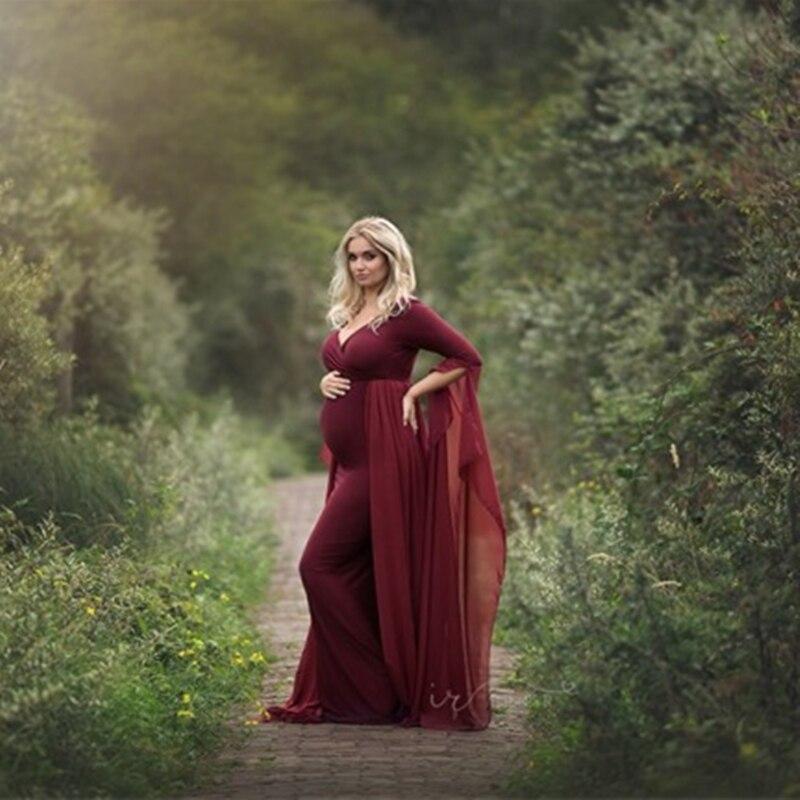 Длинные платья для маленьких девочек; Облегающие шифоновые платья для беременных; Эластичные платья с длинными рукавами