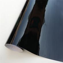 Ultra parlak piyano siyah vinil Wrap şerit etiket parlak siyah kendinden yapışkanlı vinil kabarcık ücretsiz konsolu bilgisayar dizüstü bilgisayar cilt