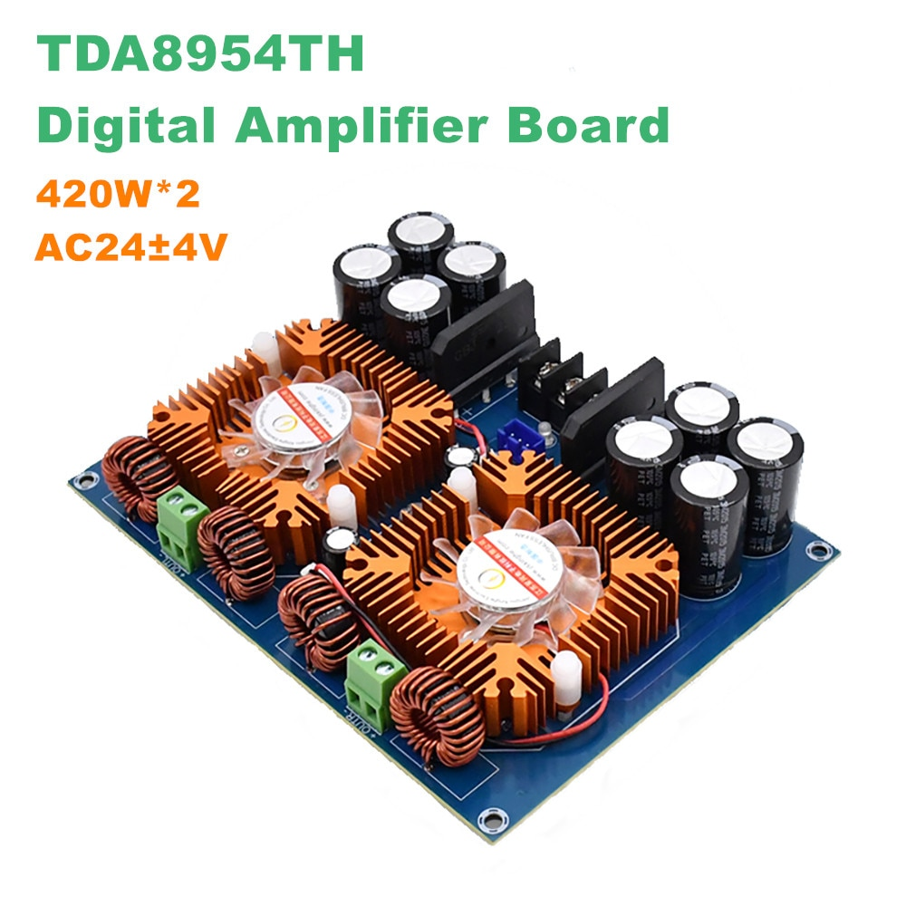 XH-A601 سوبر عالية الطاقة الرقمية مكبر للصوت مجلس TDA8954TH المدمج في الصوت الصوت أمبير مرحلة مجلس 420W * 2