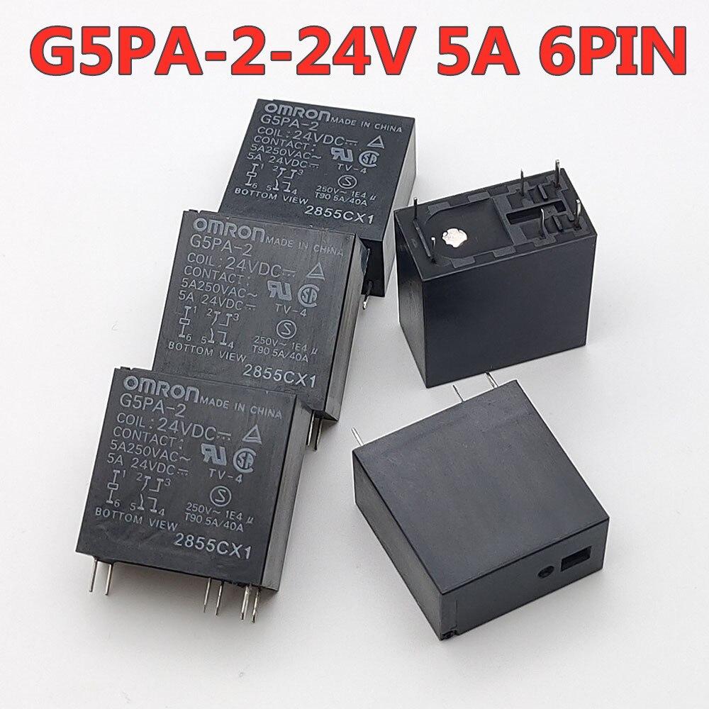 40 unids/lote relé de G5PA-2-24VDC 6pin 5A 24V nuevo y original