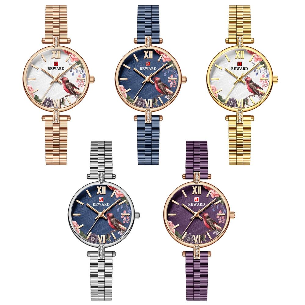 REWARD Fashion New Women Watches Top Luxury Brand Diamond Classy Ladies Quartz Watch Female Stainless Steel Dress Wristwatch enlarge