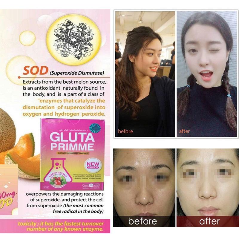 NEW Best-selling Max Glutathione primme plus + vitamin skin whitening anti-aging reduce dullness 1box=30p