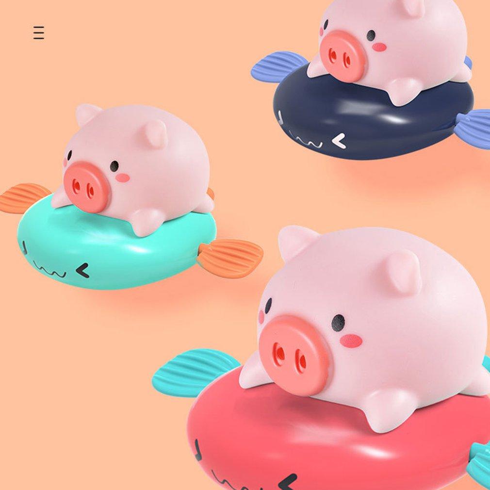 Baño de bebé reloj de juguete natación pequeño flotador y juego burbujas baño juguete verano jugar agua juguetes niños Juguetes
