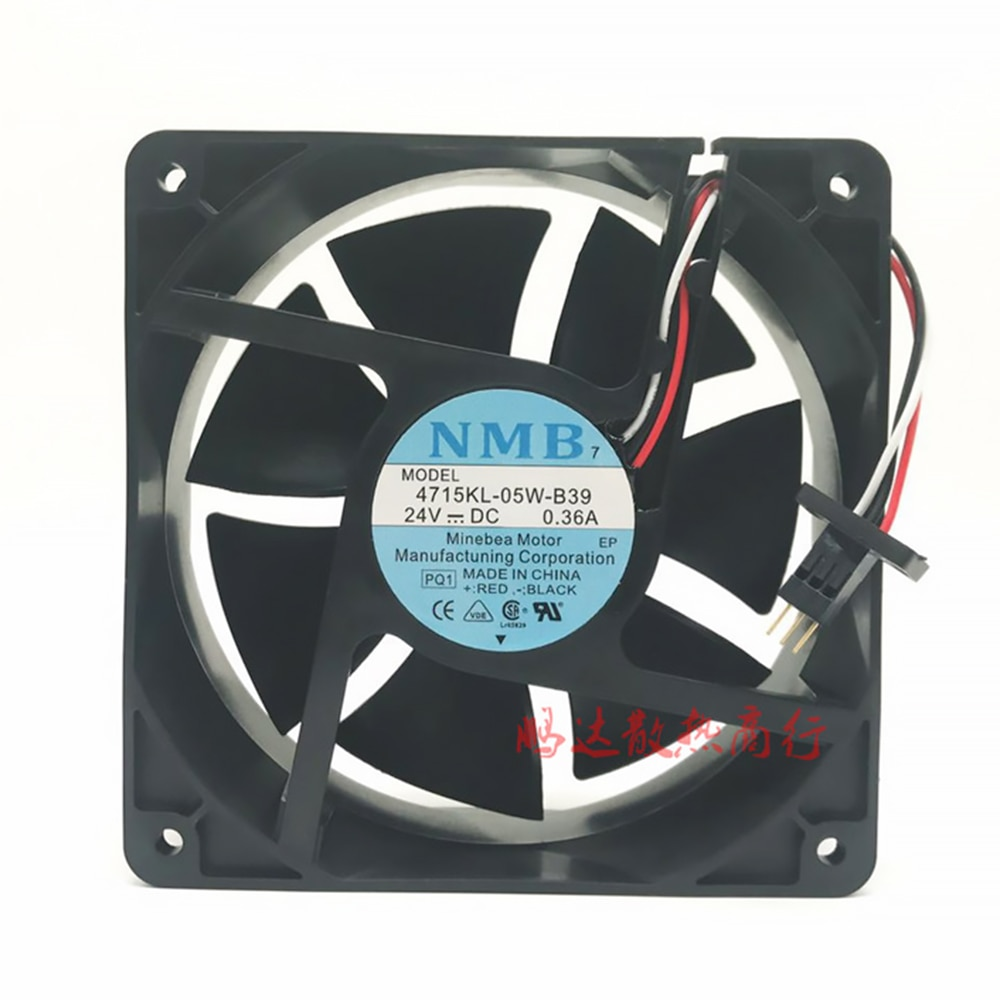 For Fanuc system cooling fan 4715KL-05W-B39 NMB DC24V 12CM 12038 120X120X38MM new nmb original 12038 24v 0 46a 4715kl 05t b40 120 120 38mm cooling fan