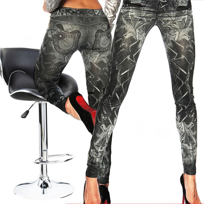 Лидер продаж, женские модные классические эластичные облегающие леггинсы, пикантные эластичные джеггинсы, брюки, джинсы, леггинсы