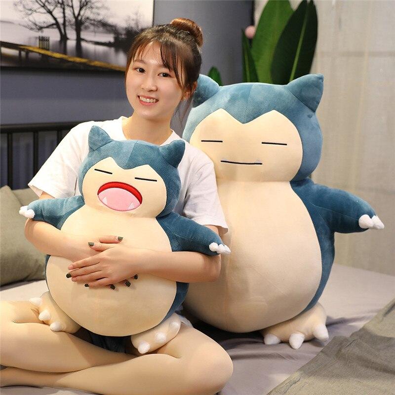 Anime quente 30/50cm bonito snorlax pikachu brinquedos de pelúcia macio enchido adorável animal bonecas travesseiro do bebê para crianças aniversário presente de natal