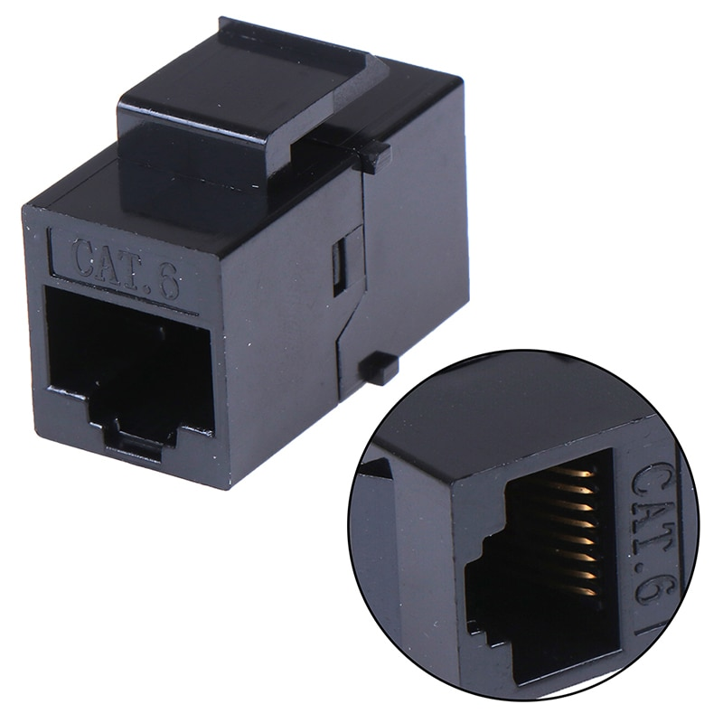 1 Uds RJ45 hembra a UTP Cat5e CAT6 keystone jack inline acoplador adaptador de conector
