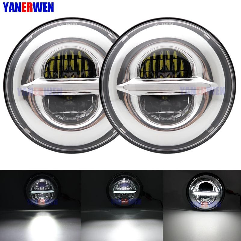"""7 """"LED DRL Del Faro 7 Pollici più luminosa 50W Proiettori A LED Per Jeep Wrangler JK TJ Hummer Per Lada 4x4 urbano Niva suzuki samurai"""