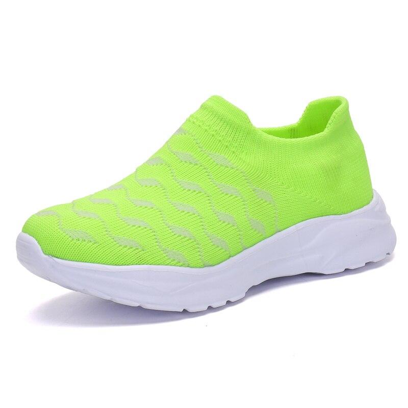 Spring Kids Sock Sneakers Lightweight Flying Weaven Slip-on Shoes for Boys Girls School Sports Runni
