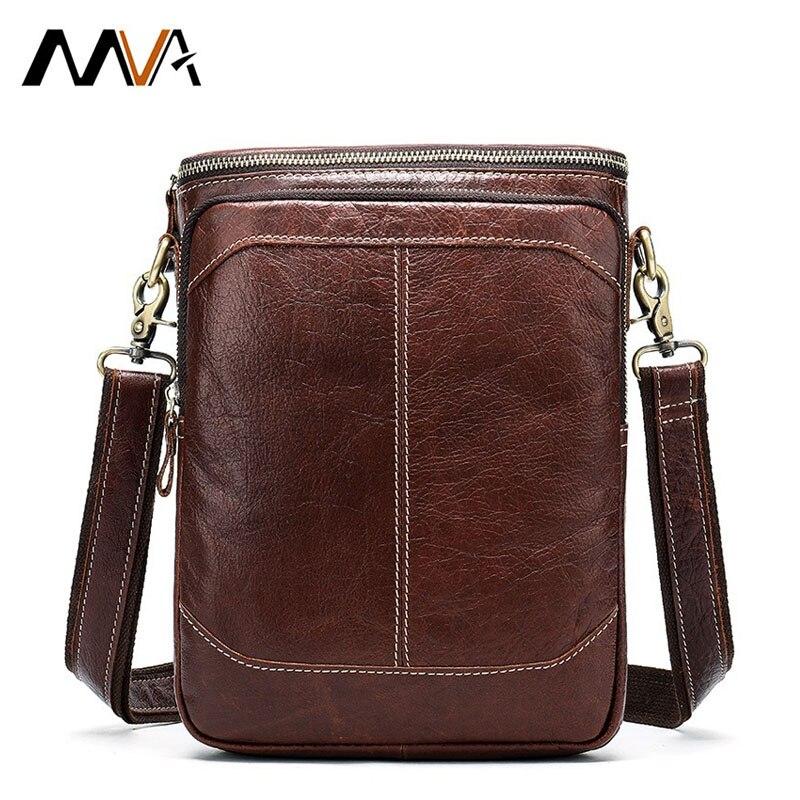 Mva Lederen Schoudertas Business Kaarthouder Crossbody Cross Body Bags Voor Mannen Retro Mode Casual Mannen Designer tas